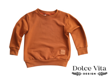 Load image into Gallery viewer, Sweatshirt, Basic Cognac