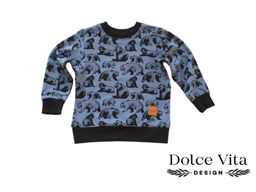 Sweatshirt, Blue Bear