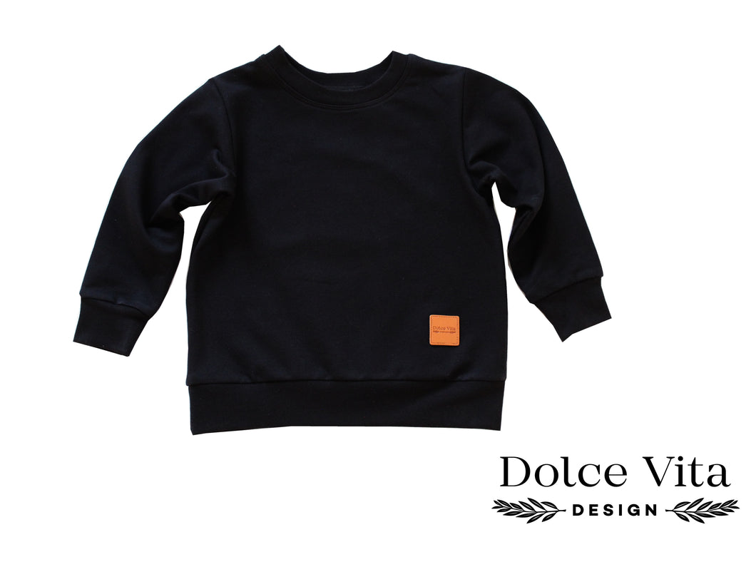 Sweatshirt, Basic Black