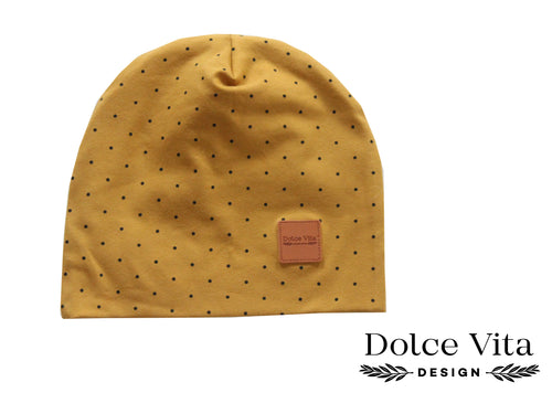 Beanie, Brown Dotts