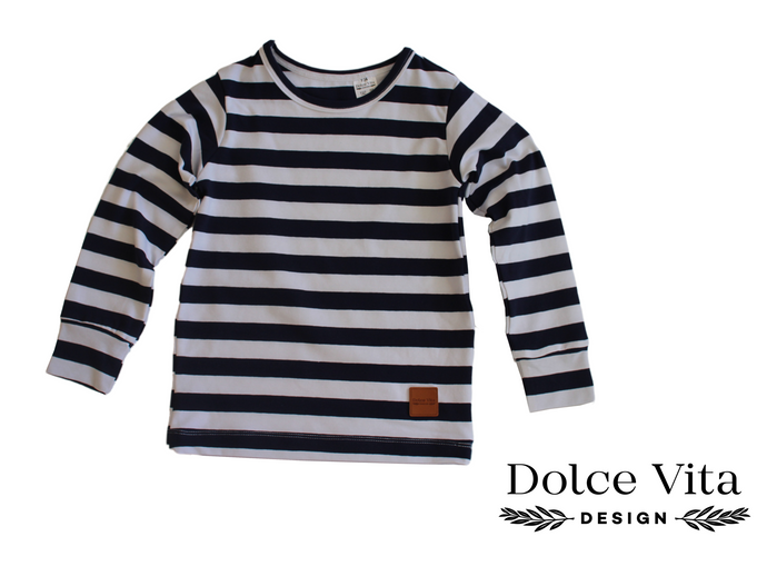 Tricot Shirt, Marine Stripes