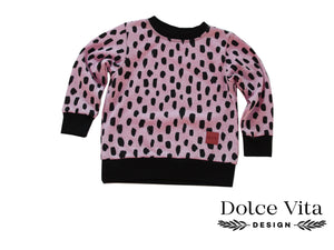 Sweatshirt, Sketches Pink