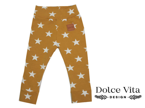 Leggings, Yellow Stars
