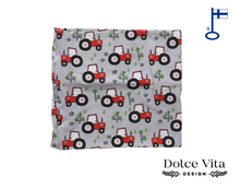 Load image into Gallery viewer, Tricot Scarf, Grey Tractors
