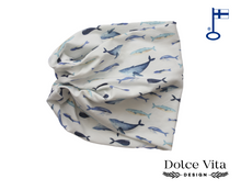 Load image into Gallery viewer, Tricot Scarf, Whales
