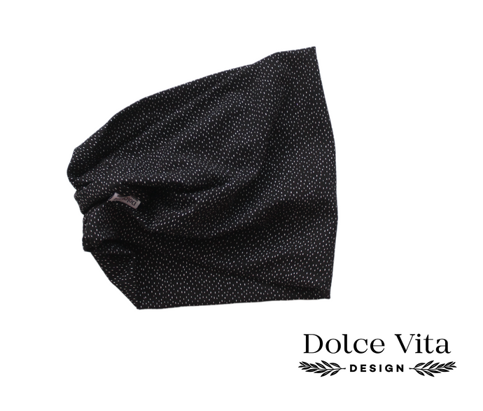 Tricot Scarf, Black Dropps