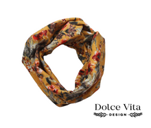 Load image into Gallery viewer, Tricot Scarf, Yellow Flowers