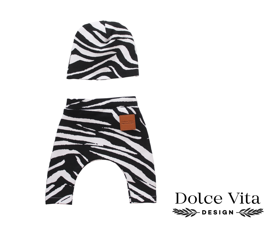 Dolls Leggings Set Zebra