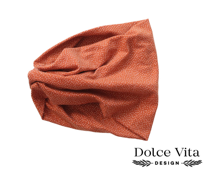 Tricot Scarf, Brown Dropps