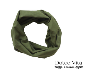 Tricot Scarf, Army Green