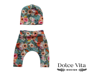 Dolls Leggings Set Pastel Flowers