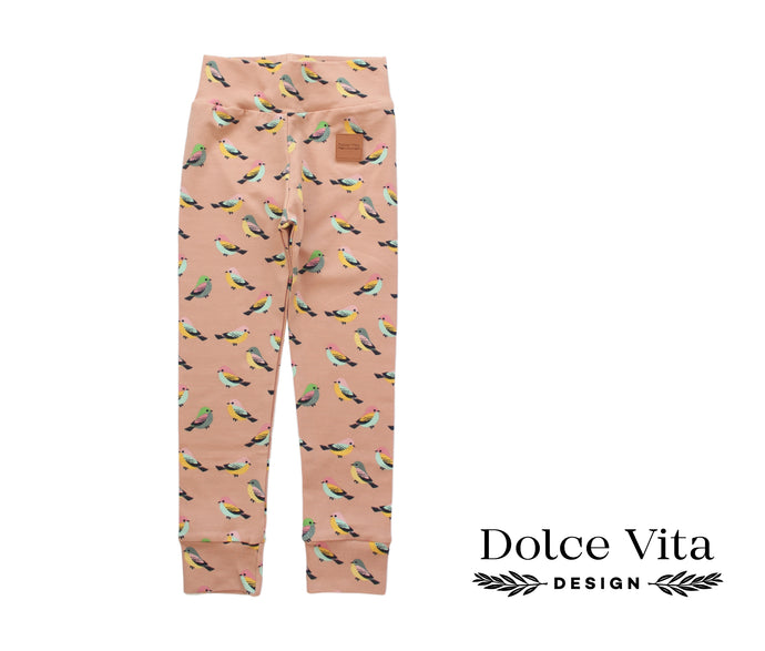 Leggings, Spring Birds