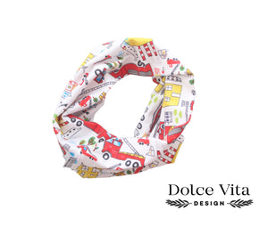 Tricot Scarf, Fire Trucks