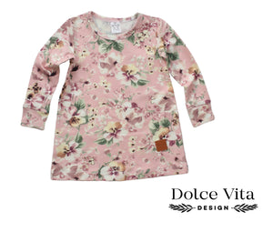 Me and Mini, Pink Flowers Tunic