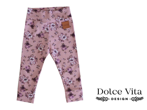 Leggings, Roses Pink