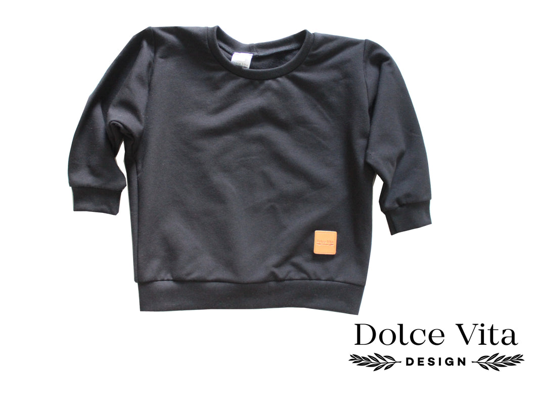 Oversize Sweatshirt, Black