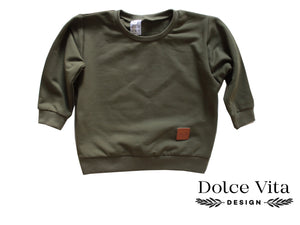 Oversize Sweatshirt, Army Green