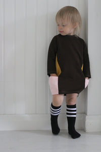 Knee Socks, Stripes Black