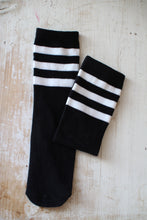 Load image into Gallery viewer, Knee Socks, Stripes Black