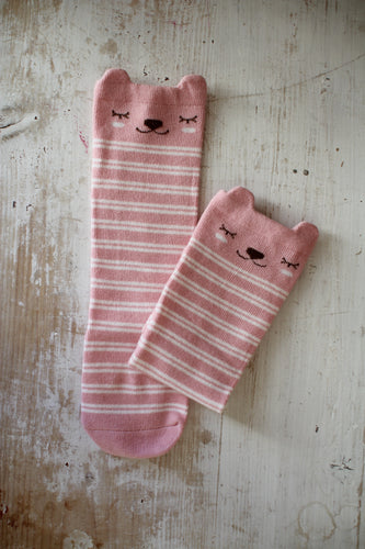 Knee Socks, Pink Bears