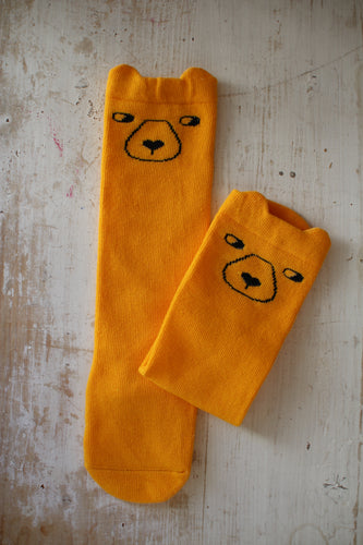 Knee Socks, Yellow Bears