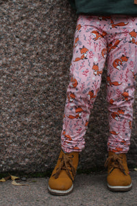 Leggings, Pink Foxes