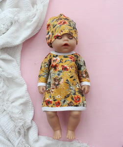 Dolls Tunic Yellow Flowers