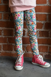 Leggings, Pastel Flowers