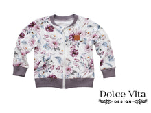 Load image into Gallery viewer, Sweatshirt Jacket, Watercolor Flowers