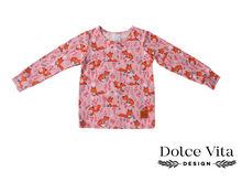 Load image into Gallery viewer, Tricot Shirt, Foxes Pink