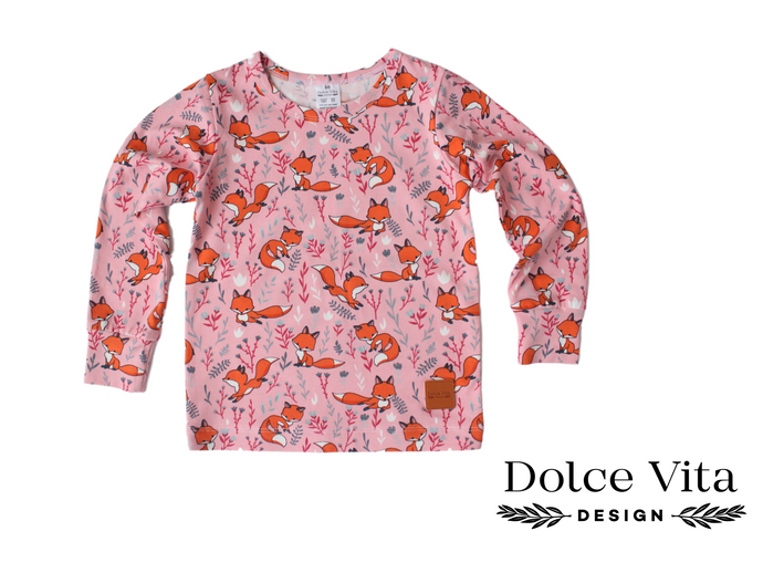 Tricot Shirt, Foxes Pink