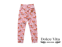 Load image into Gallery viewer, Leggings, Foxes Pink