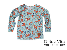 Load image into Gallery viewer, Tricot Shirt, Foxes Dusty Mint