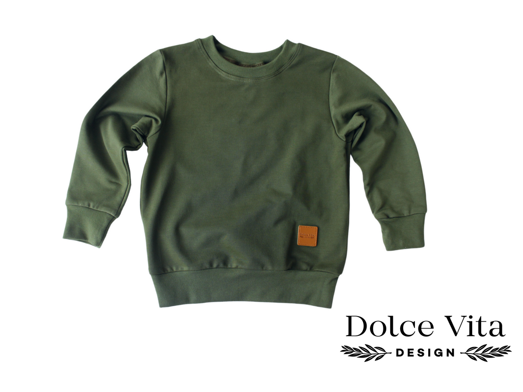 Sweatshirt, Army Green