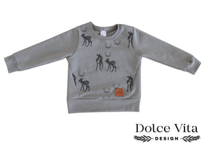 Sweatshirt, Bambi Grey