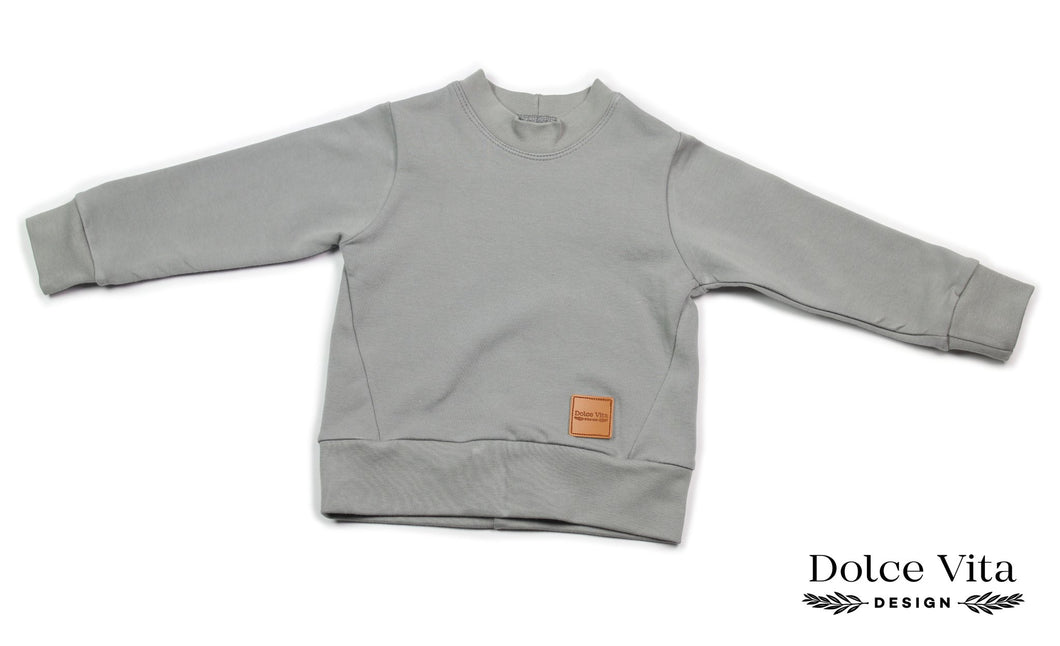 Sweatshirt, Basic Grey