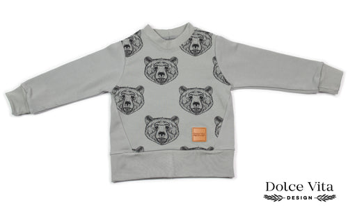Sweatshirt, Brown Bear Grey