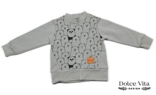 Sweatshirt, Finding Panda Grey