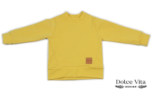 Sweatshirt, Basic Yellow