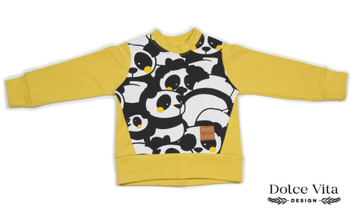 Sweatshirt, Panda Yellow
