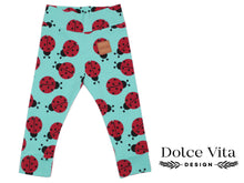 Load image into Gallery viewer, Leggings, Ladybug Mint
