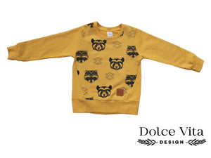 Sweatshirt, Racoon Yellow