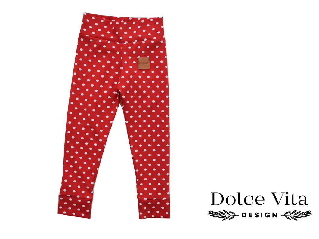 Leggings, Dotts Red