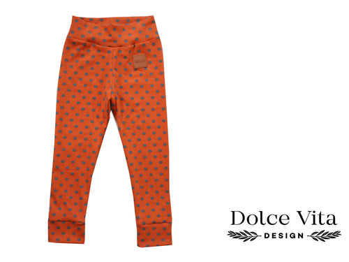 Leggings, Dotts Orange