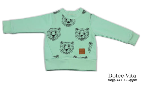 Sweatshirt, Brown Bear Mint