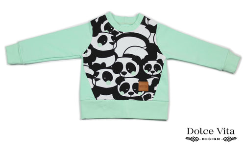 Sweatshirt, Panda Mint