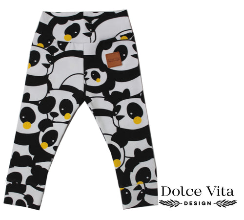 Leggings, Panda Yellow