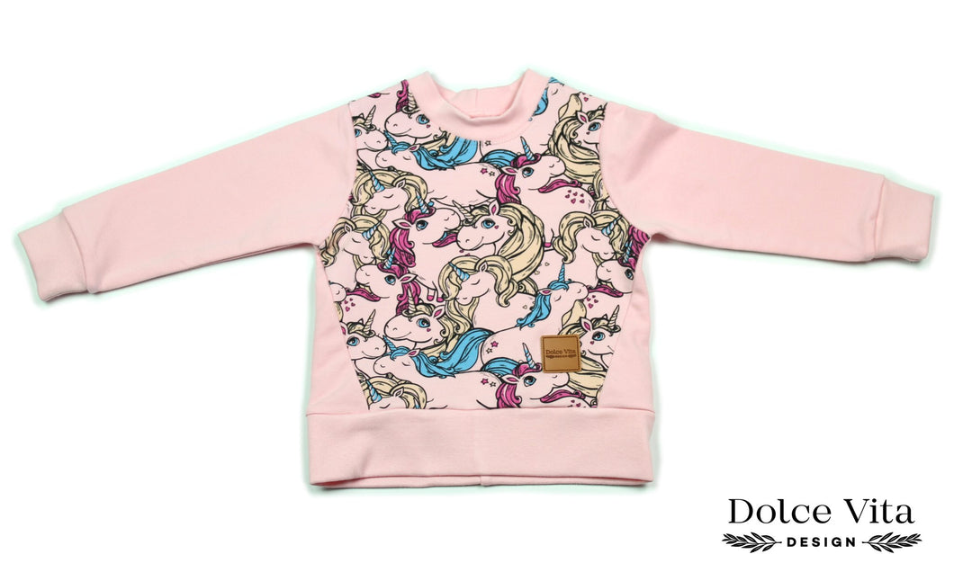 Sweatshirt, Unicorn Pink