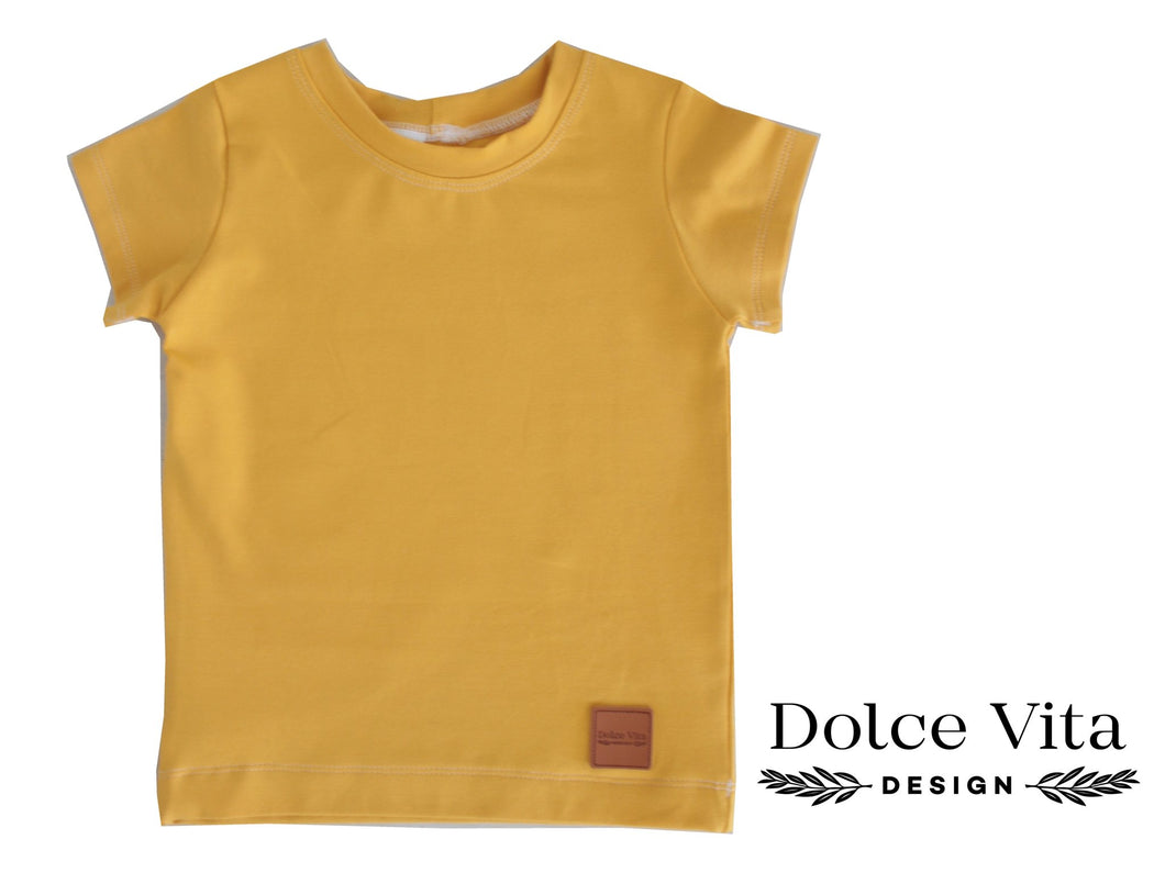 T-shirt, Yellow