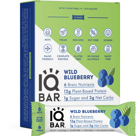 IQBAR Brain and Body Keto Protein Bars , 45grams